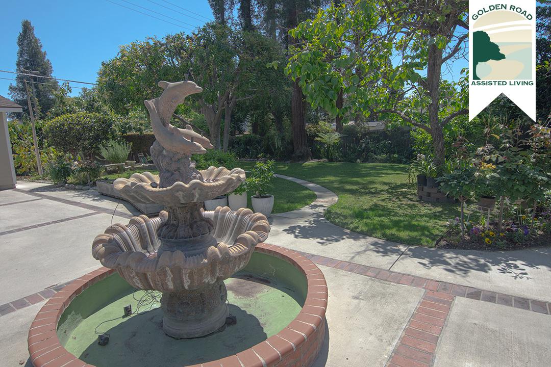 Golden Road Assisted Living San Gabriel Backyard